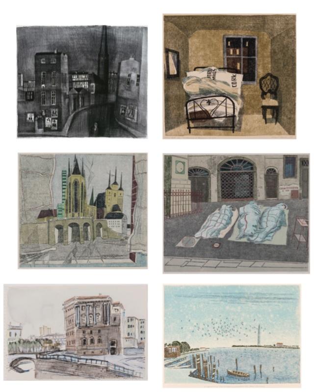 Robert Förch Linolschnitt, Zeichnung, Radierung