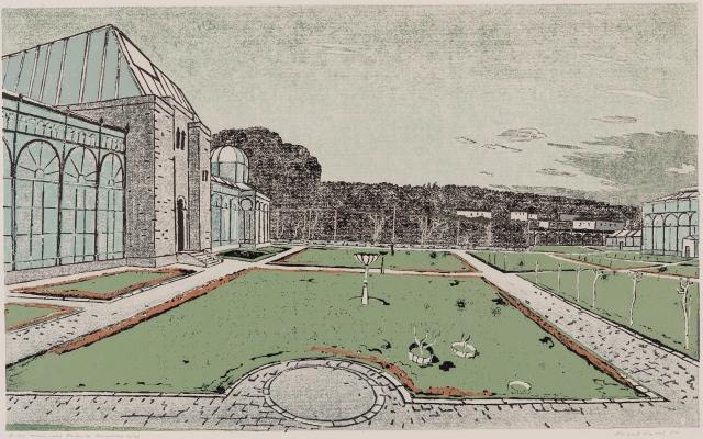 Der Maurische Garten, Linolschnitt 1980