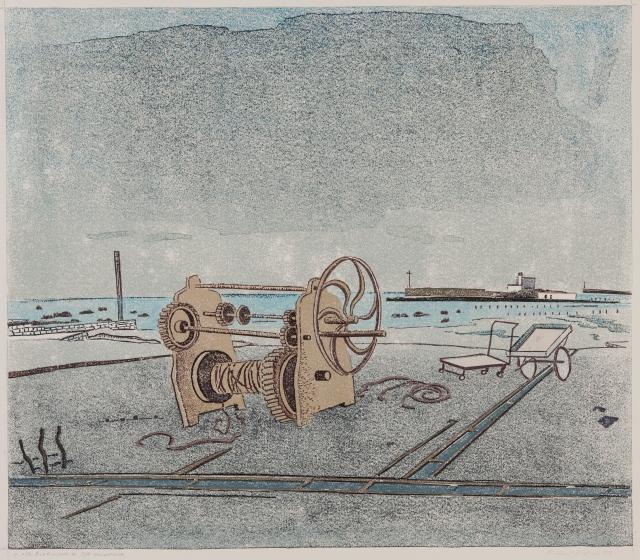 Robert Förch Linolschnitt